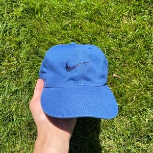 🧢90's Nike Swoosh Blue Snapback🧢